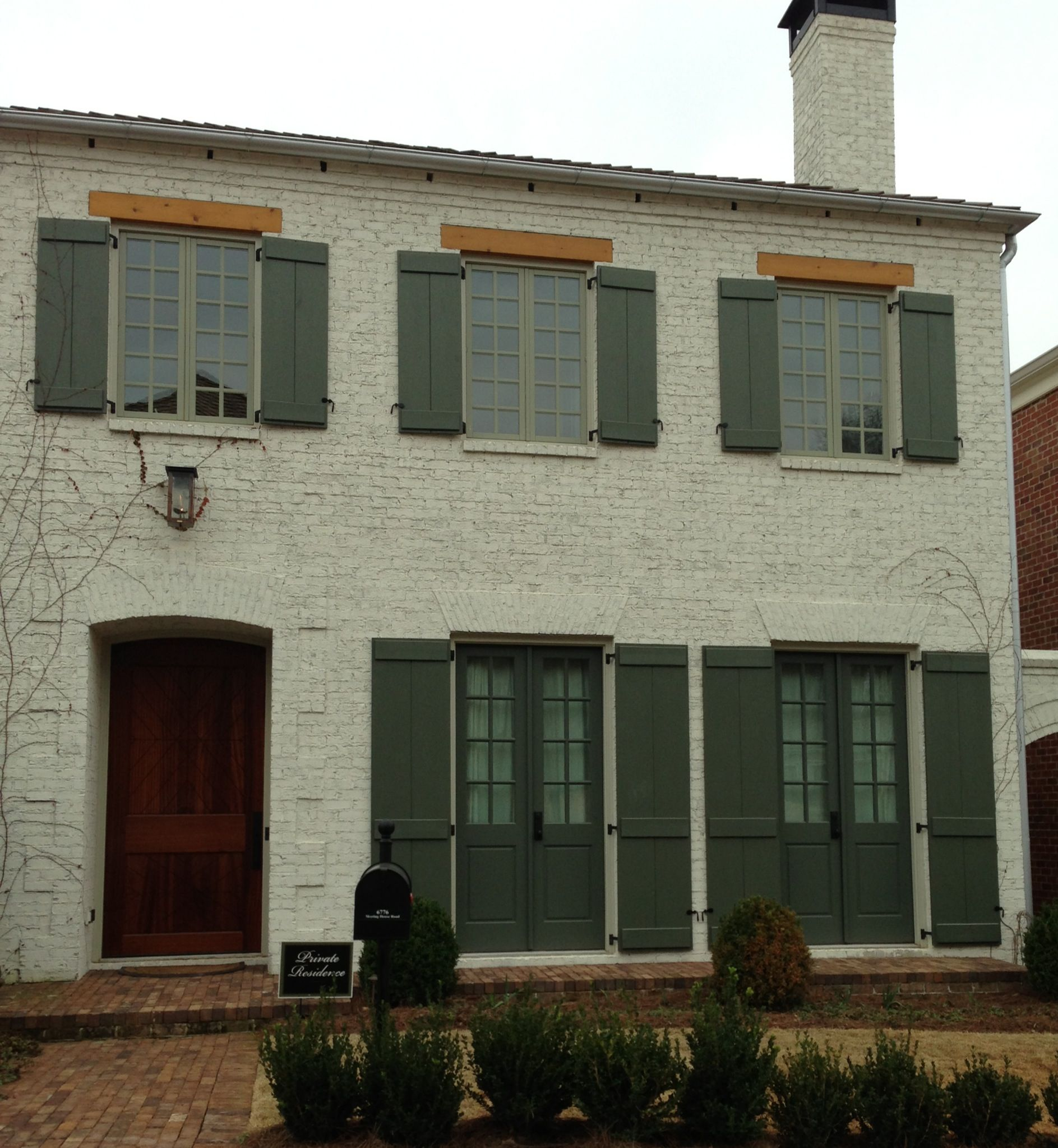 Exterior painted brick   New house ideas   Pinterest   Painted ...