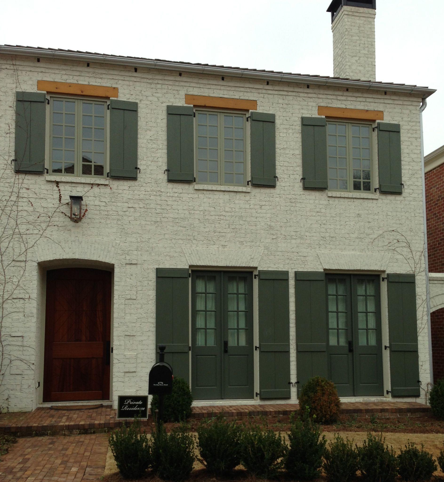 Exterior painted brick | New house ideas | Pinterest on Brick House Painting Ideas  id=85216