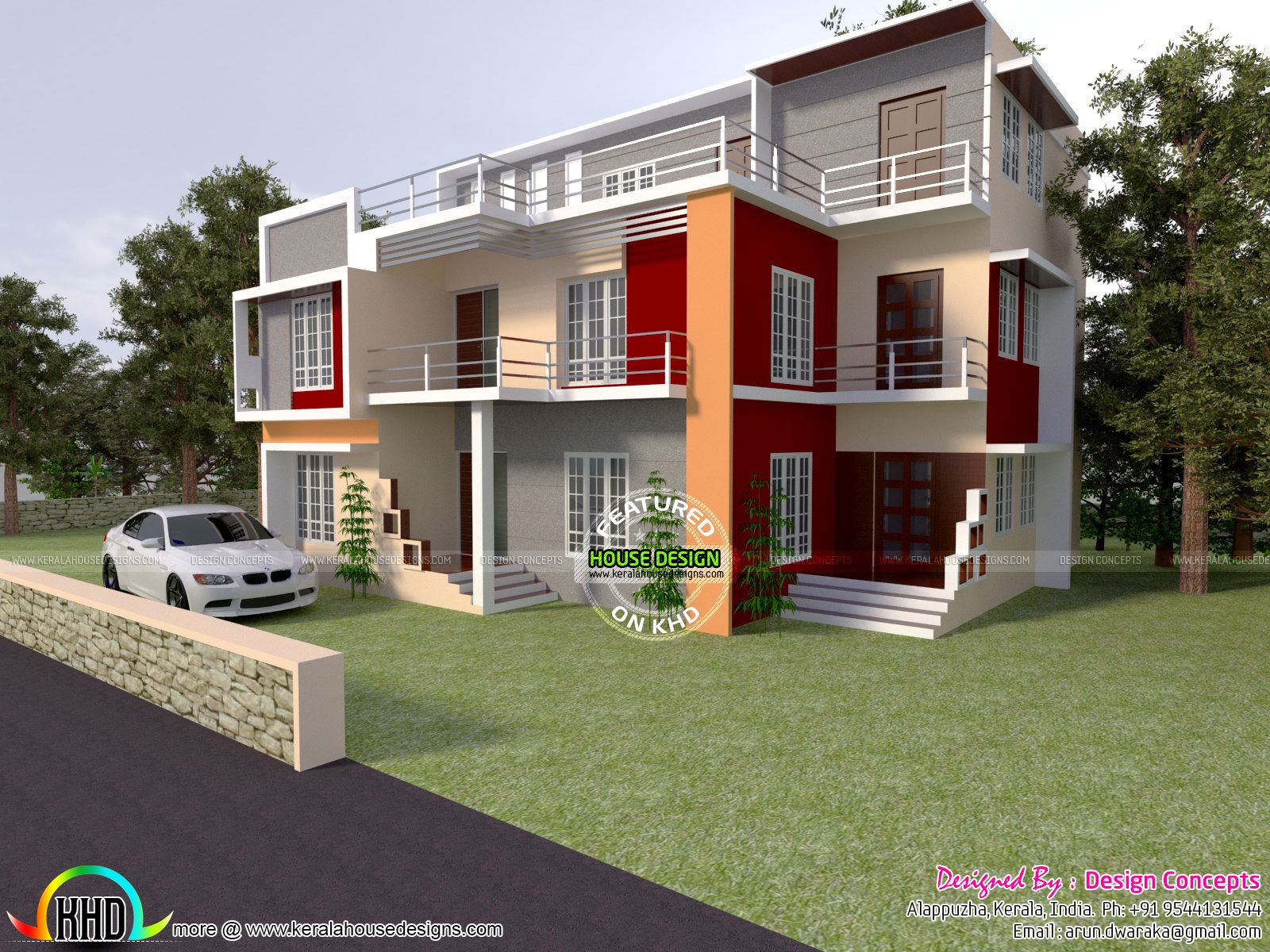 Bhk Modern House Architecture Proposed In Afghanistan Design Provided By Er Arun Kumar Alappuzha Kerala Kerala House Design Modern House Design Modern House