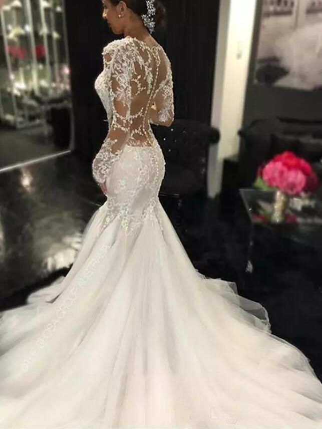 Elbeth Gillis 2019 Bohemia Wedding Dresses Nikebridalgown Lace Mermaid Wedding Dress Sweetheart Bridal Gown Wedding Dresses