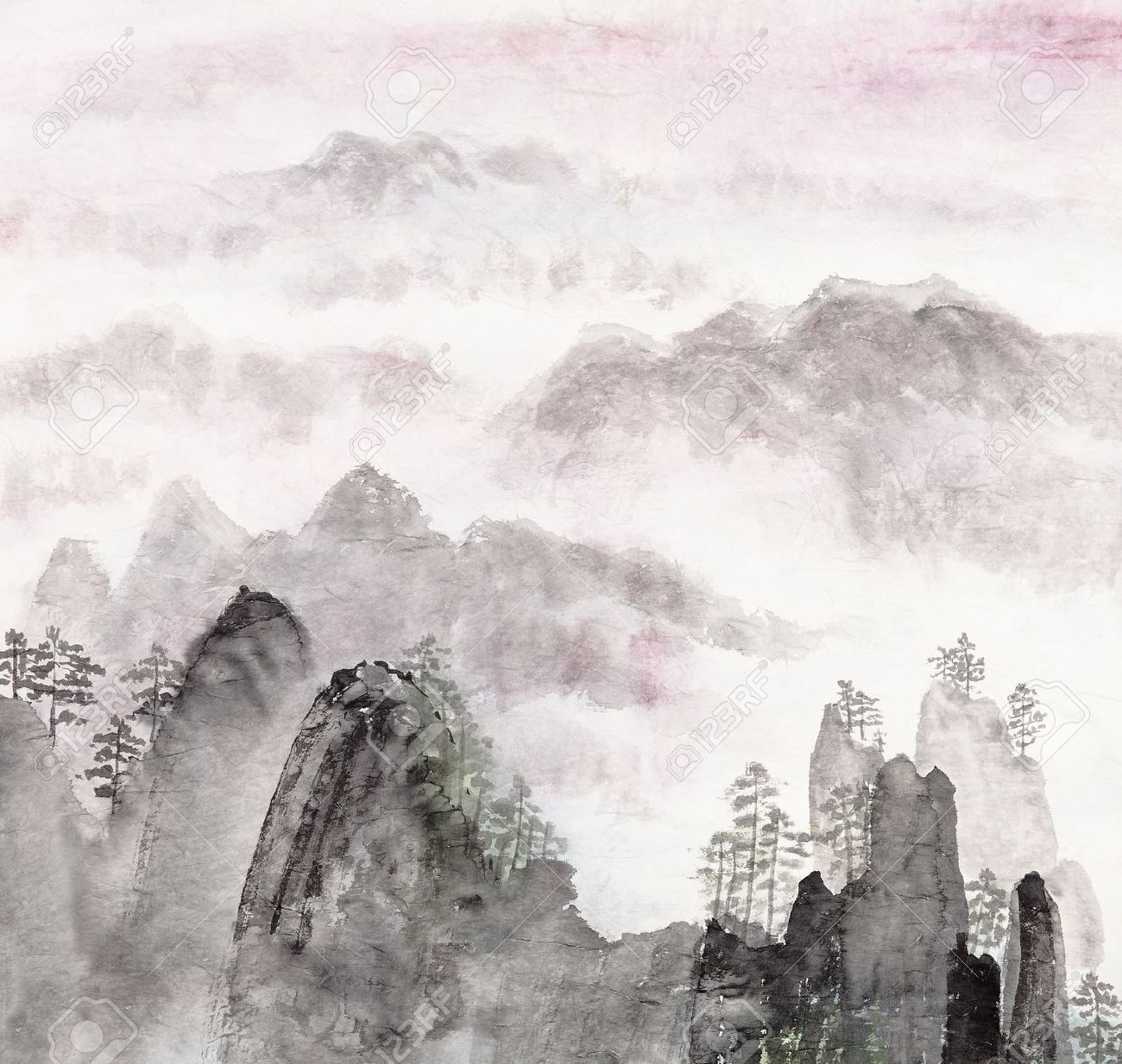 chinese art mountains - photo #5