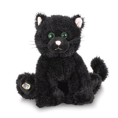 Webkinz Halloween Black Cat Limited Edition Black Cat Plush Cat