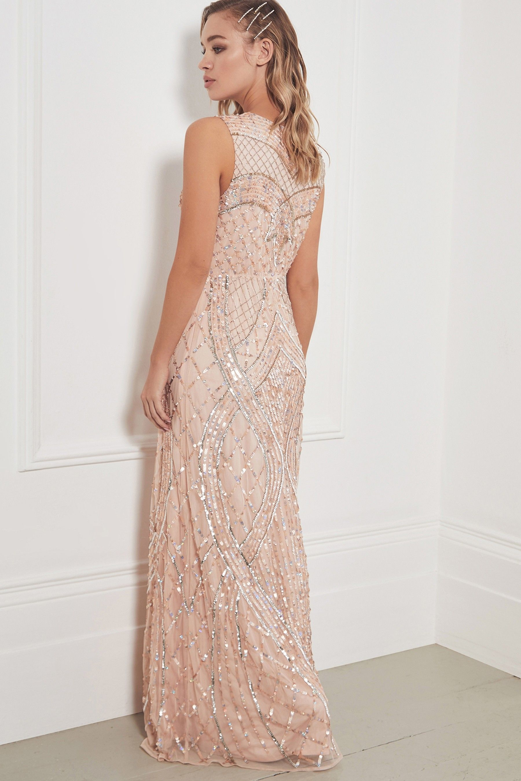 8048da0468 Sistaglam Embellished Sleeveless Maxi Dress | favorie in 2019 ...