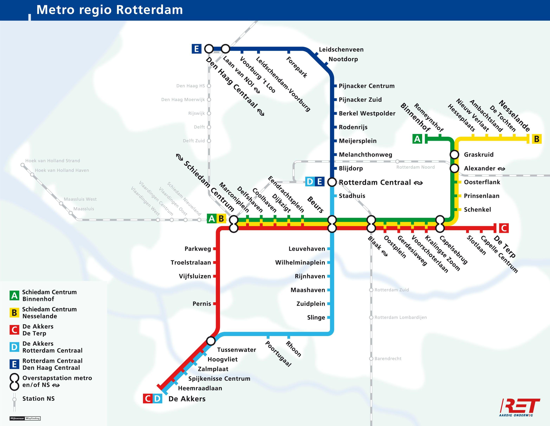 Sfm Subway Map.U Bahn Von Den Haag Metro Rotterdam Metro Map Rotterdam