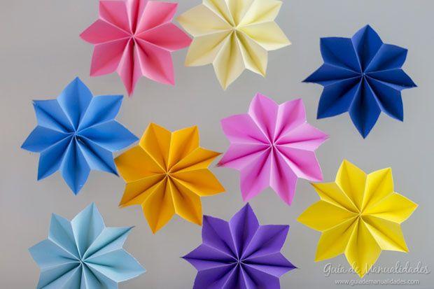 guirnalda con estrellas de papel - Hacer Guirnaldas