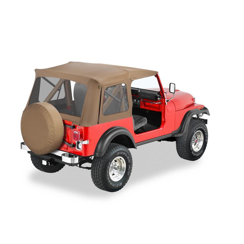 Bestop Supertop Classic Spice Soft Top For Cj7 Wrangler Yj 51599 37 In 2020 Classic Tan Classic Jeep Wrangler X
