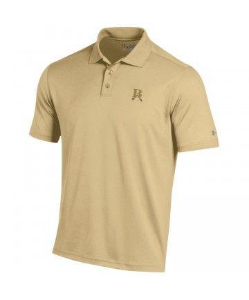 Underarmour Polo Tech Polyester Vegas Gold White Broken Arrow Logo Embroidery Wear To Work Performance Polos Mens Tops Embroidery Logo
