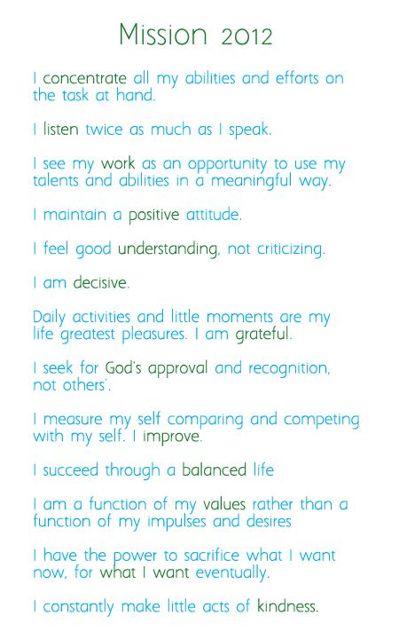 The Purple Bow Personal Mission Statement Quote Example Examples Of 7 Habits