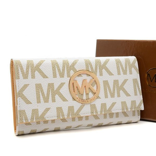 Michael Kors Envelope Logo Large Vanilla Wallet