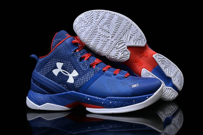 sale retailer e123a 4fe7b UA Under Armour Steph Curry 2 PROVIDENCE ROAD Game Royal University Red