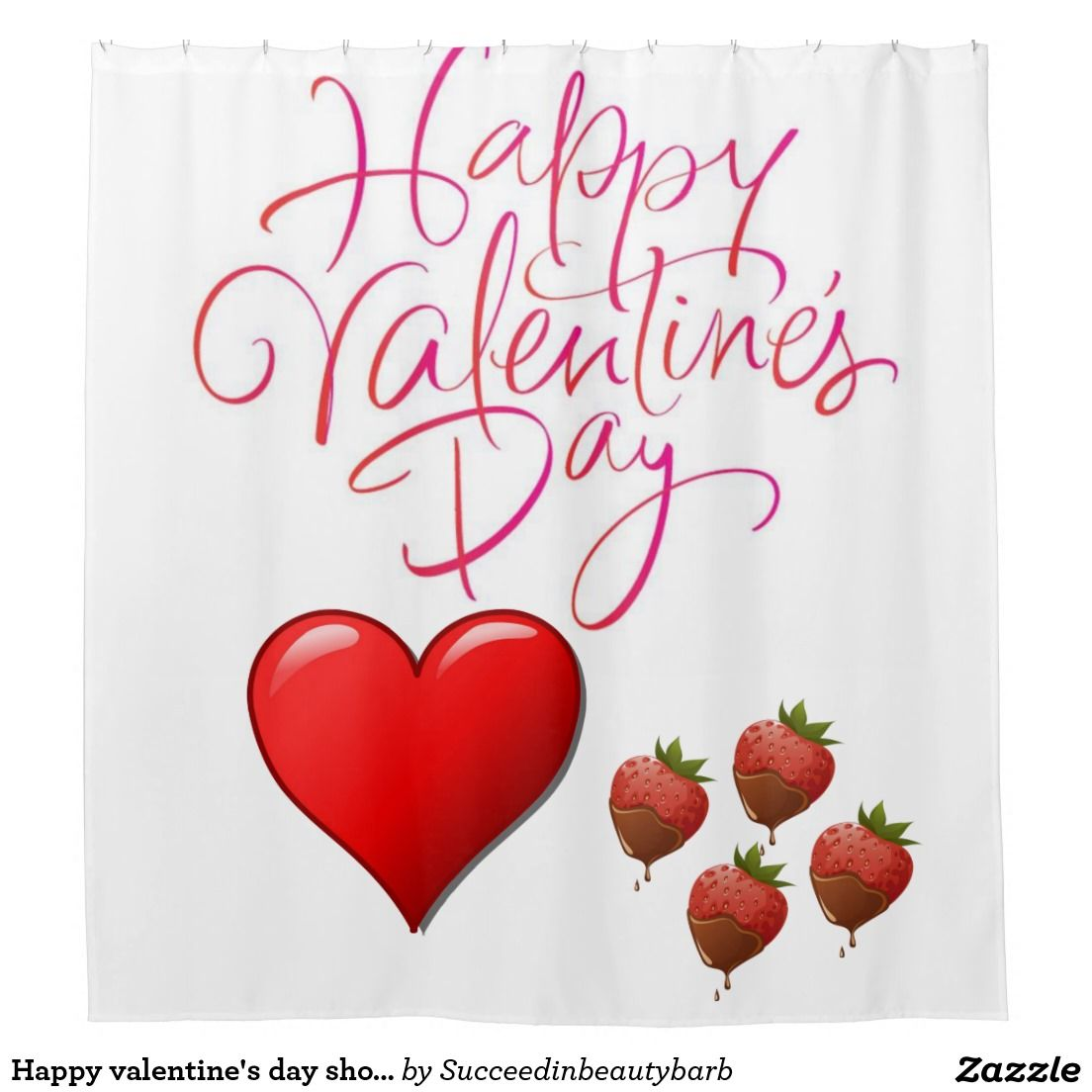 Valentine S Day Shower Curtain Zazzle Com Curtains Happy