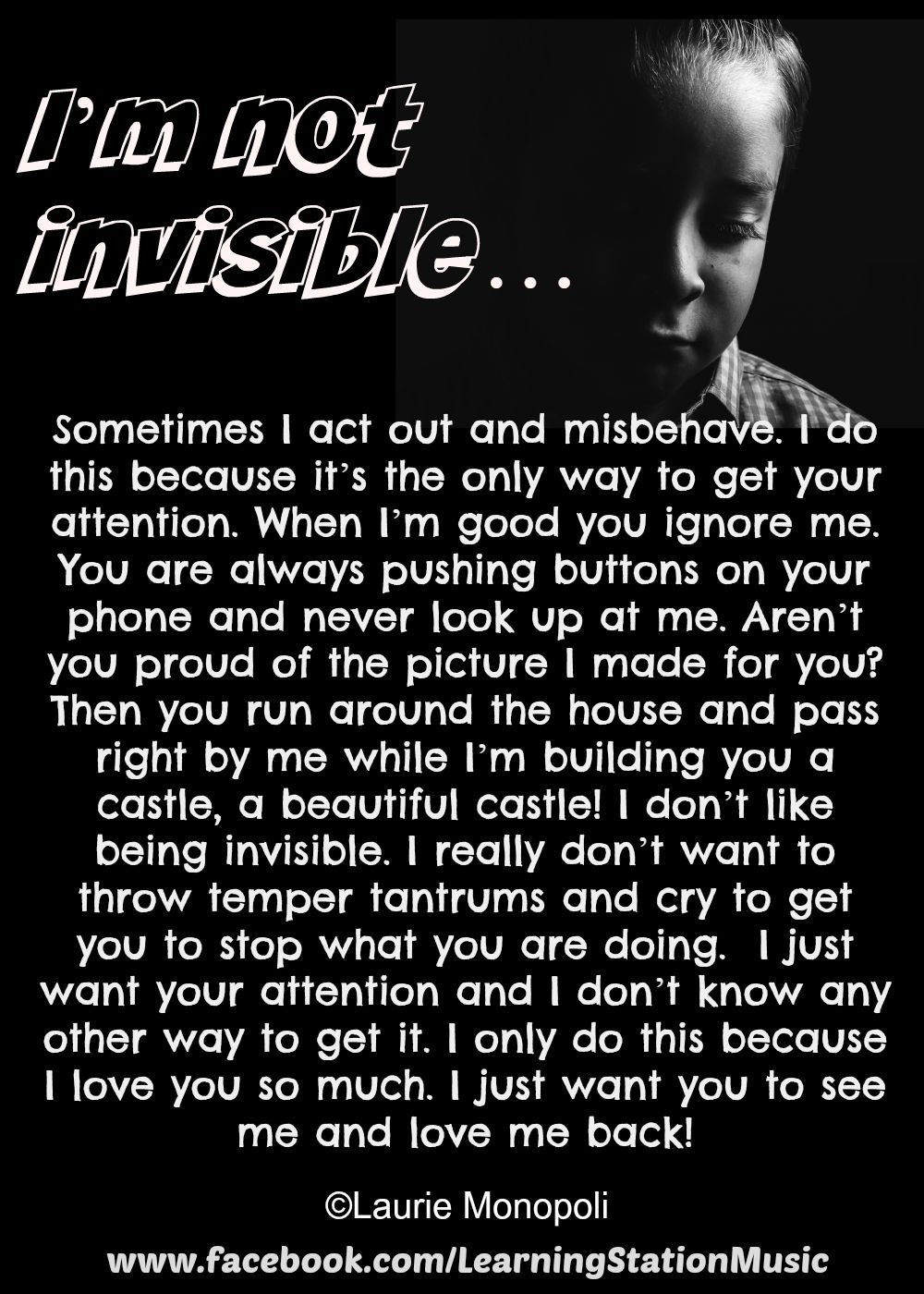 Im Not Invisible By Laurie Monopoli Quotes Parenting Behavior