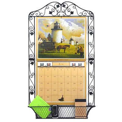 wrought iron leaves calendar frame
