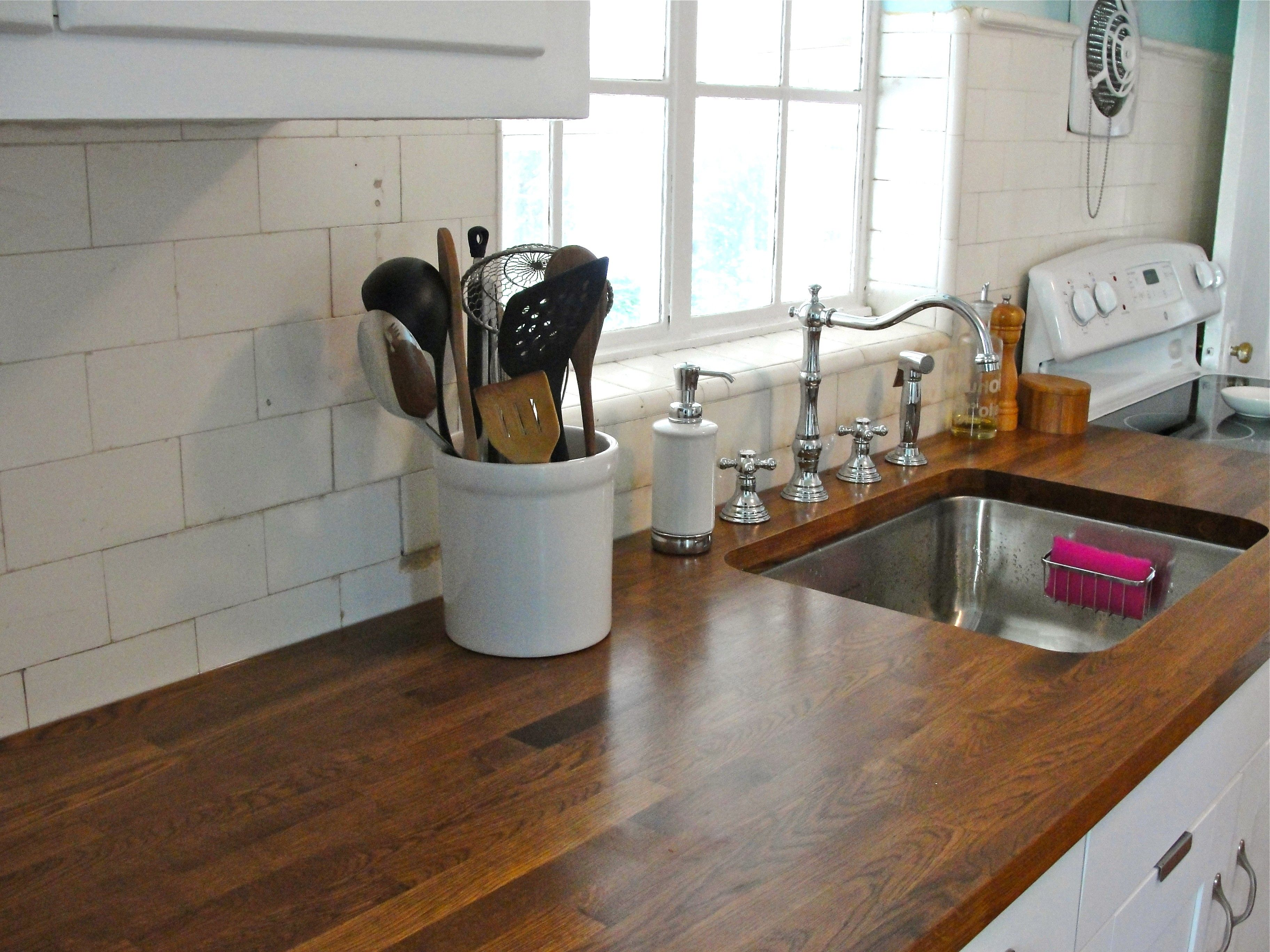 Image Result For Oak Counter Top With Stainless. Wooden Kitchen CountertopsStainless  Steel ...