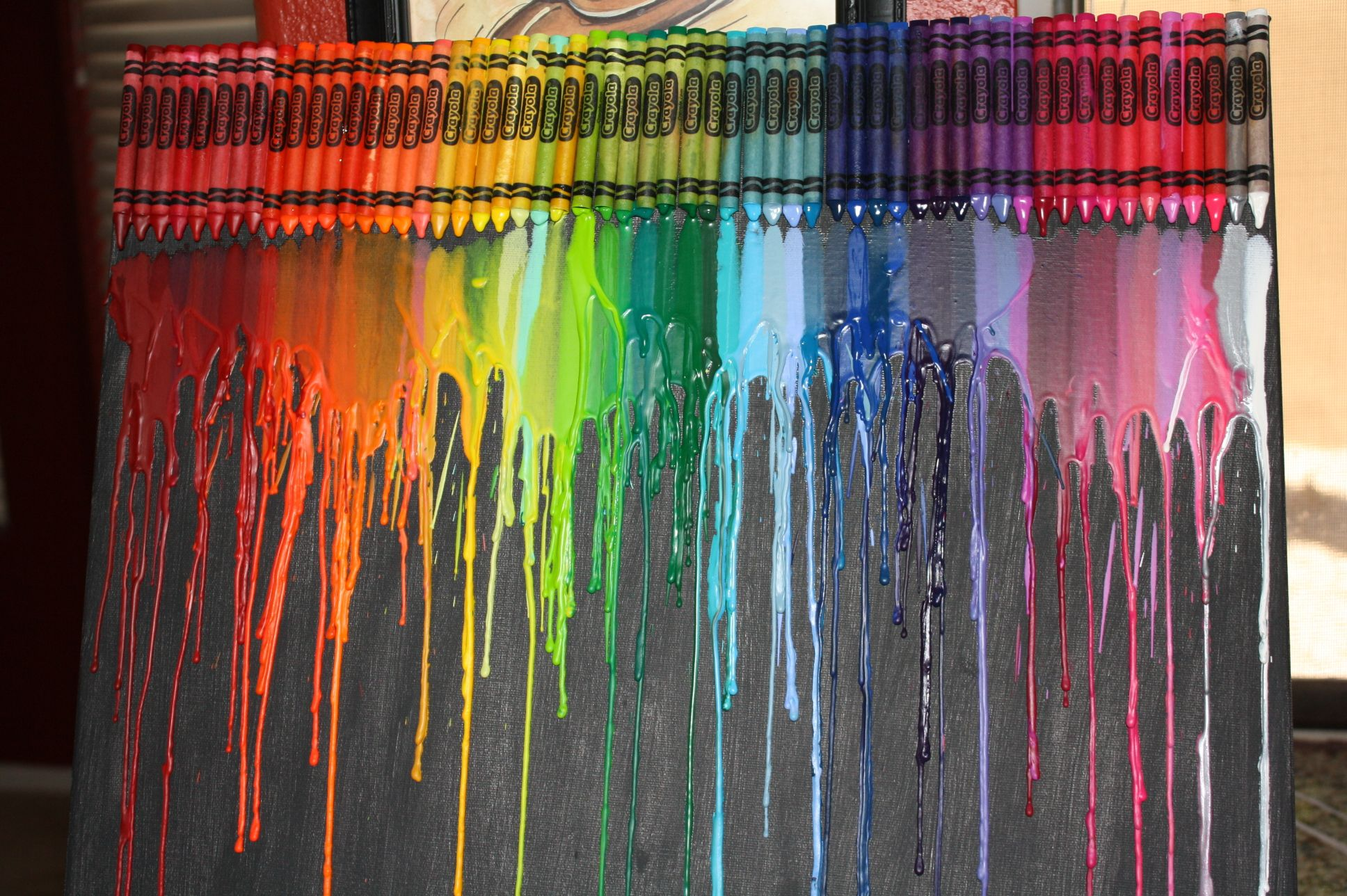 Here is the Crayon Art Alyssa made