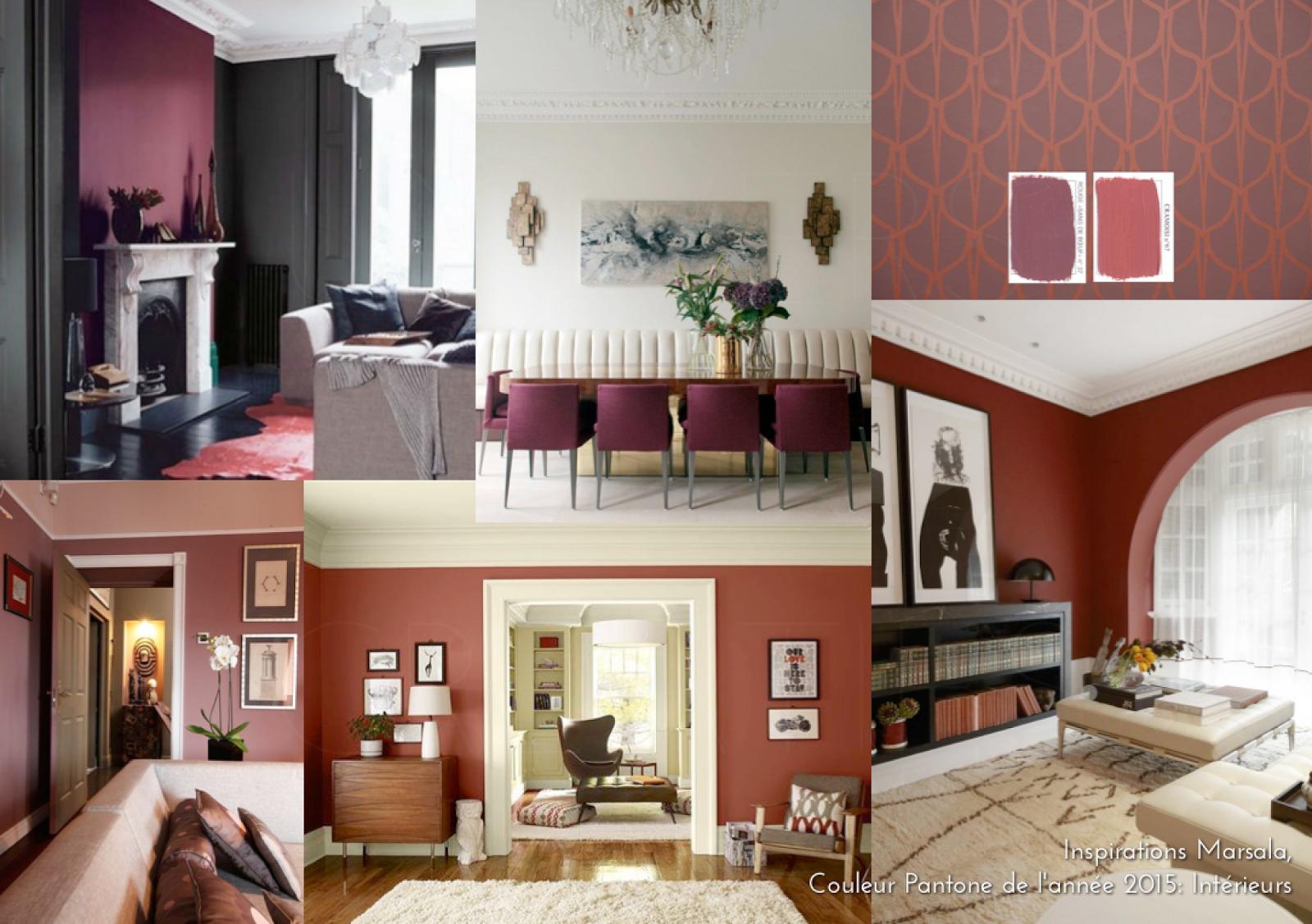 Inspirations Marsala, couleur Pantone de l\'année 2015 : Intérieurs ...