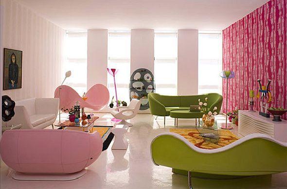 Vivid color interior new karim rashid new york loft 2013 apartment design and home interior