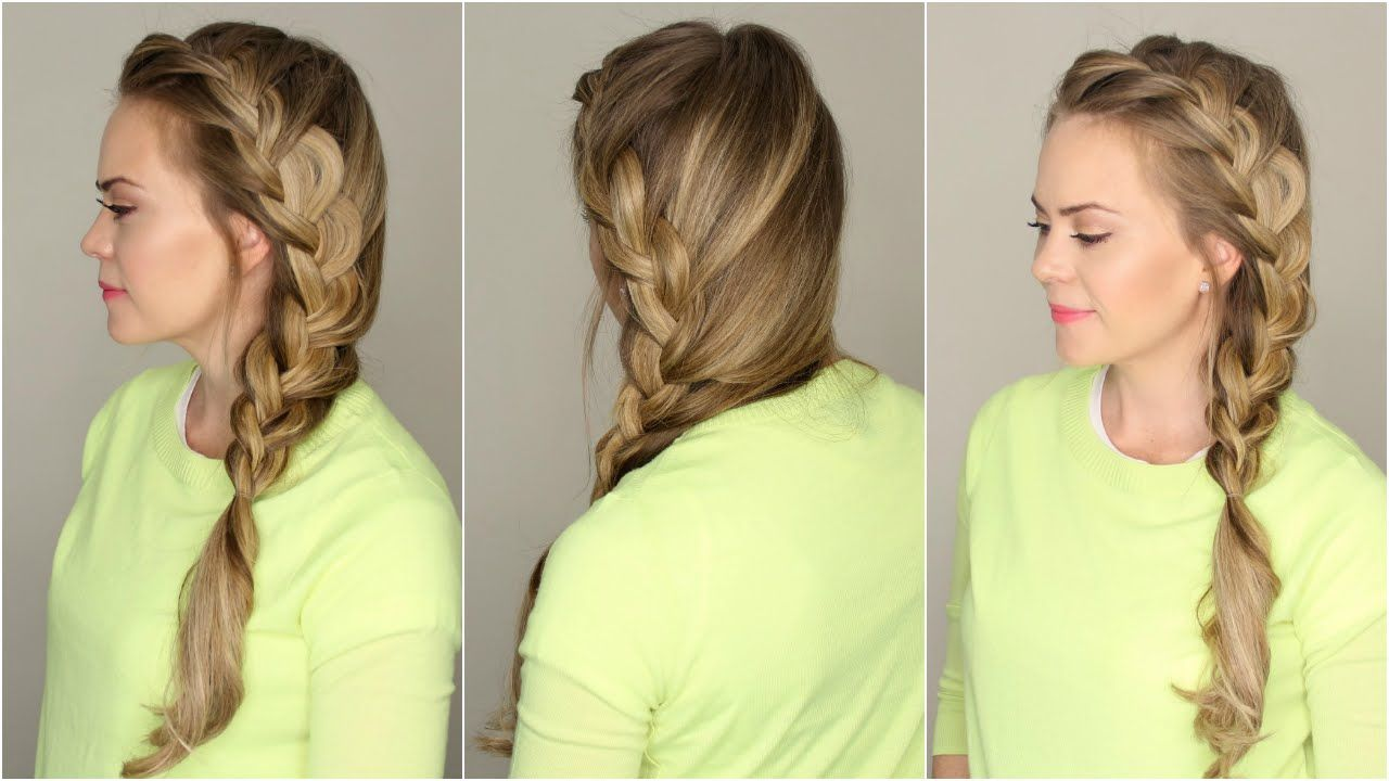 Side French Braid Youtube Hair Pinterest Braids Hair And