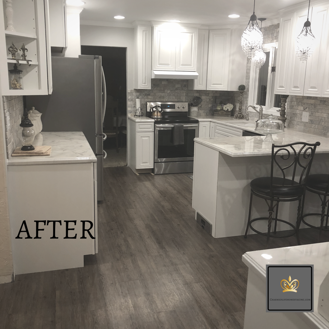 This Gorgeous Kitchen Was Straight From The 80 S Before We Got Our Hands On It Check Out The Before On Our Instagram Cha With Images Kitchen Remodel Kitchen Home Staging