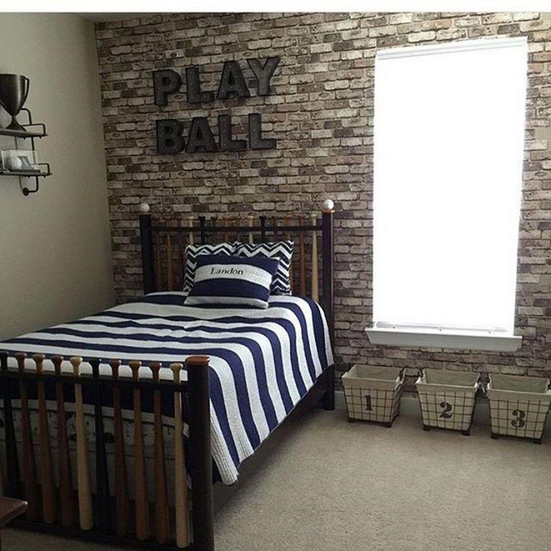 Nice boys baseball themed bedroom ideas