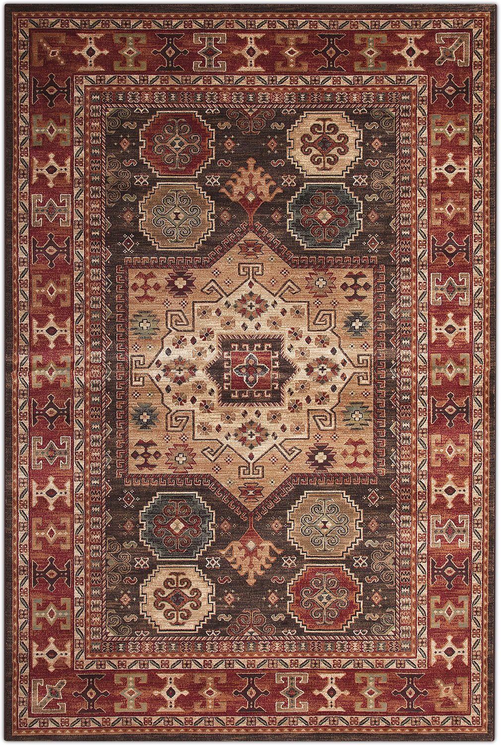 Sonoma Area Rug Chocolate And Red