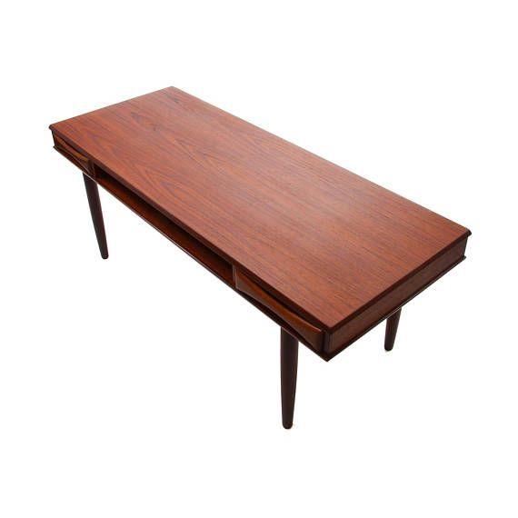 Contemporary Furniture Makers: TEAK COFFEE TABLE By Danish Furniture Maker 1960s. Danish