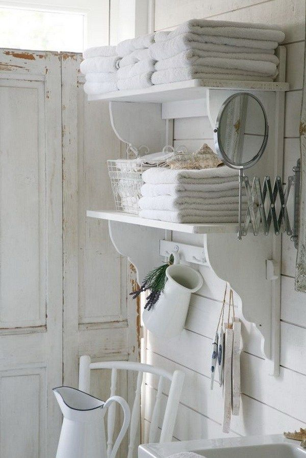 Photo of 25 Awesome Shabby Chic Bathroom Ideas Check more at https://hometime.site/25-awesome-shabby-c…