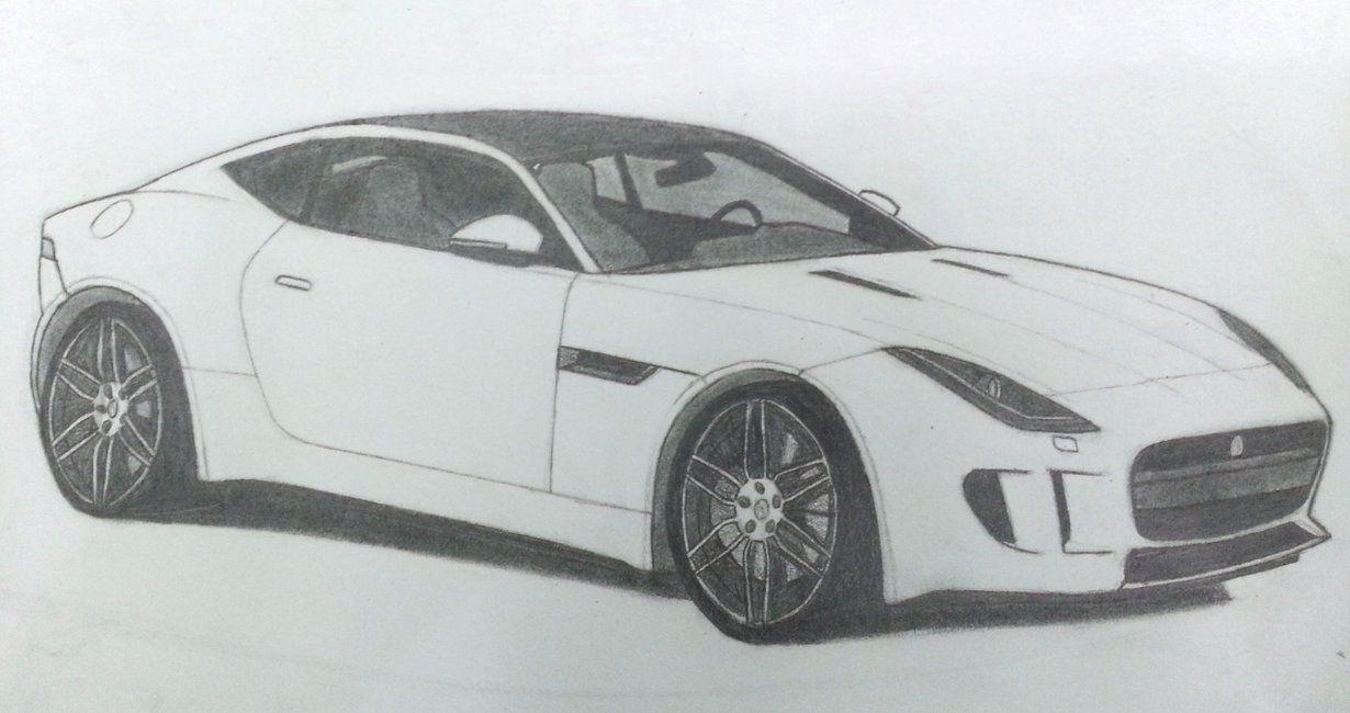 jaguar car drawing - photo #13