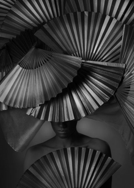 The Art Of Fanning Opposite ColorsVintage PhotographyBlack White