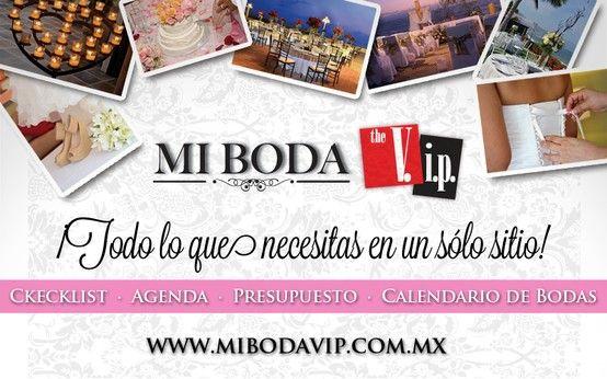 ¡Todo lo que necesitas en un solo sitio!  www.mibodavip.com.mx