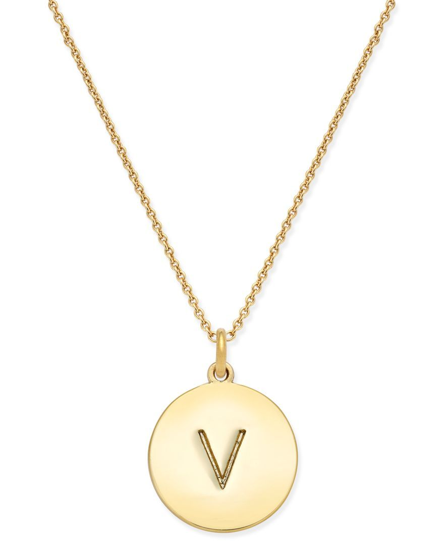 Kate spade new york 17 12k gold plated initials pendant necklace kate spade new york 12k gold plated initials pendant necklace aloadofball Image collections