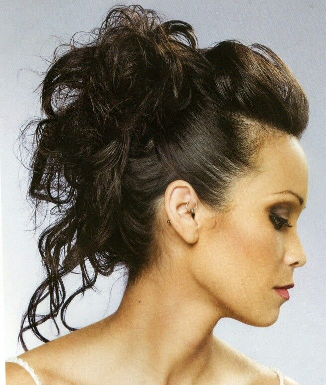 Mohawk updo - love it and wish that A) my hair was longer and B) I knew what to do with it.