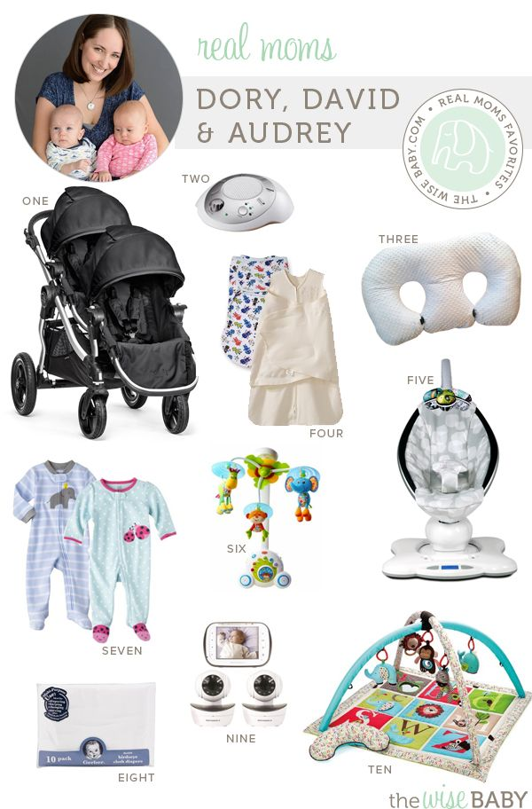 Real Moms Favorites TWINS baby products - Dory, David & Audrey