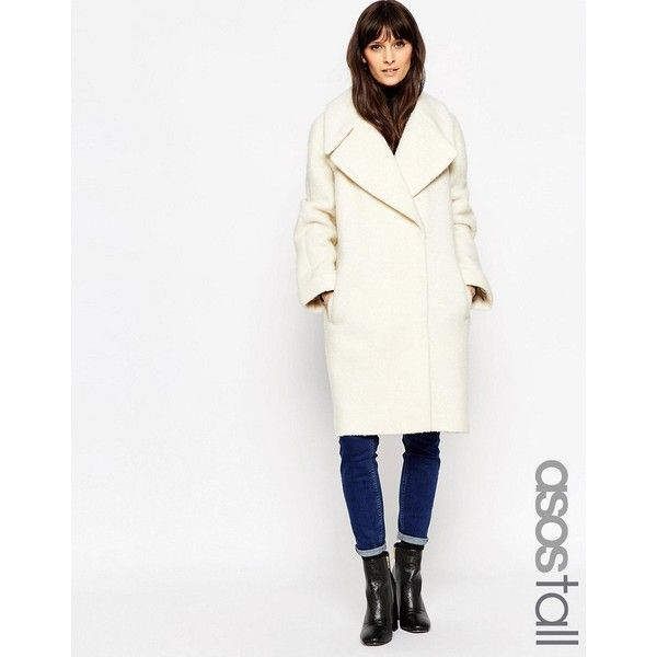 Asos Tall Coat In Oversized Fit With, Asos Winter White Coats