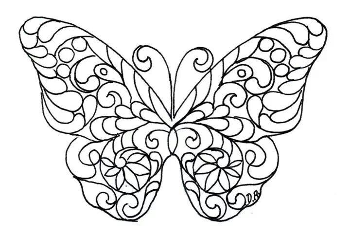 Butterfly Coloriage Papillon Dentelle De Papier Coloriage