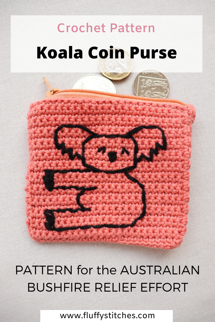 Crochet Koala Coin Purse in 2020 (With images)   Coin ...