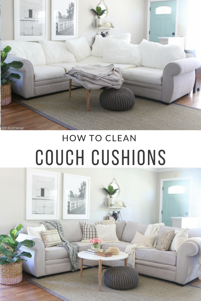 How To Clean Couch Cushions Clean Couch Couch Cushions