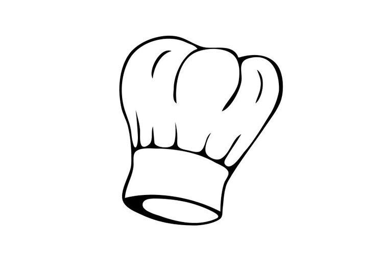 Coloring Page Chef S Hat Img 10339 Design De Logos Desenhos