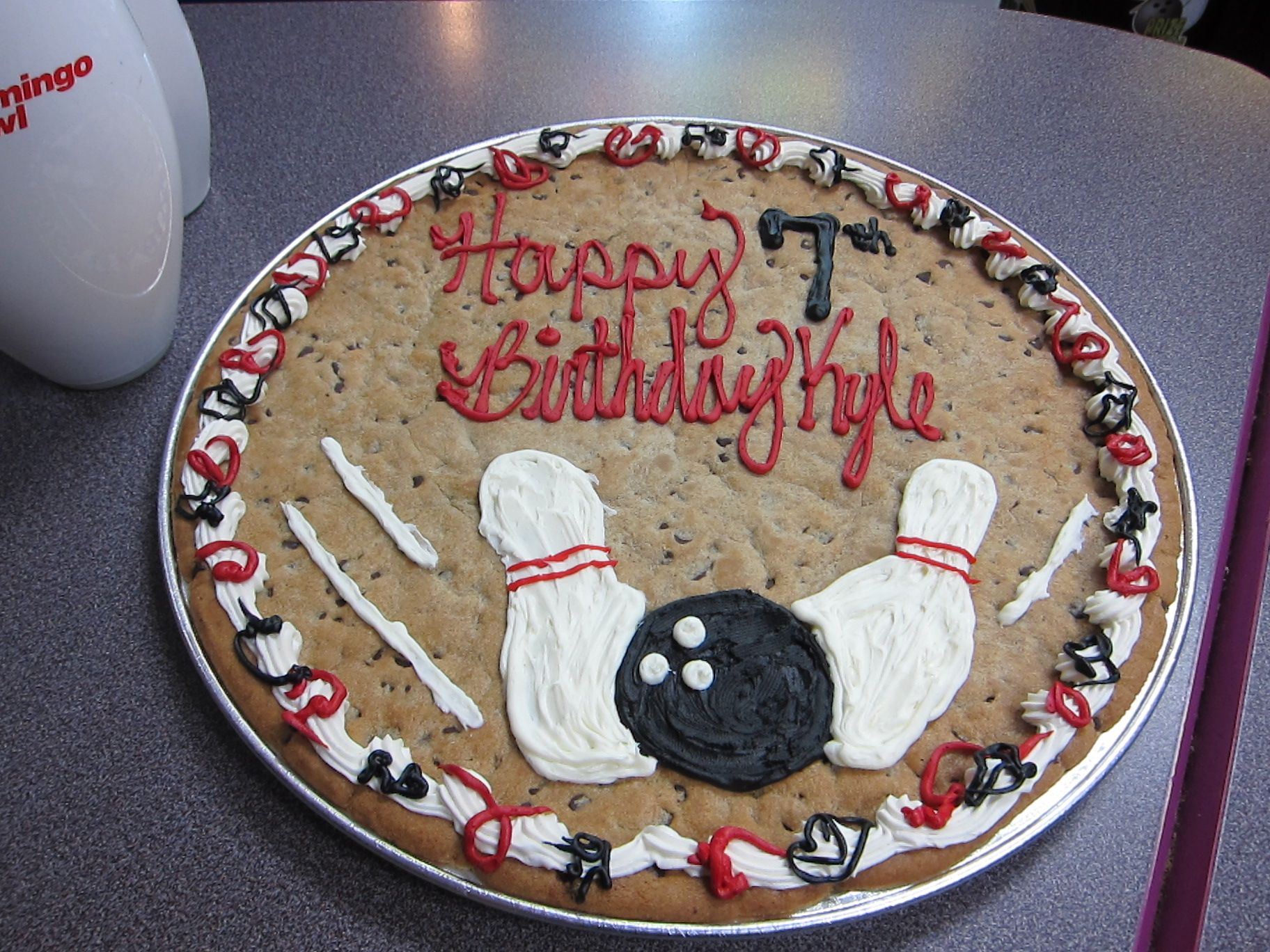 Bowling party cookie cake sports party decorations