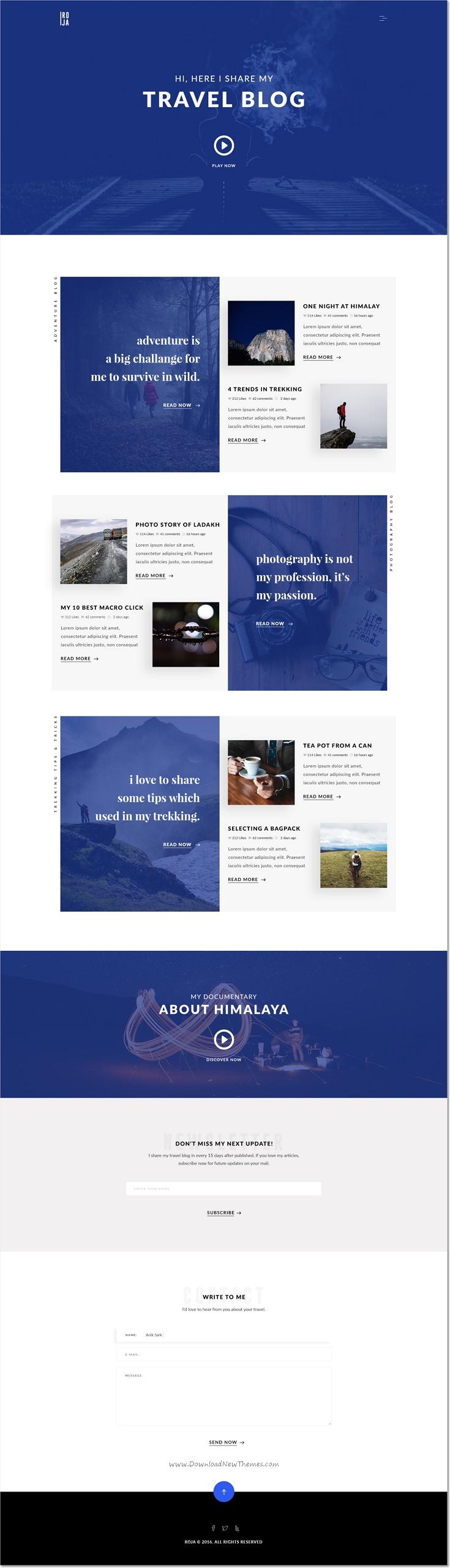 Roja Minimal Wordpress Blog Template Minimal And Wordpress