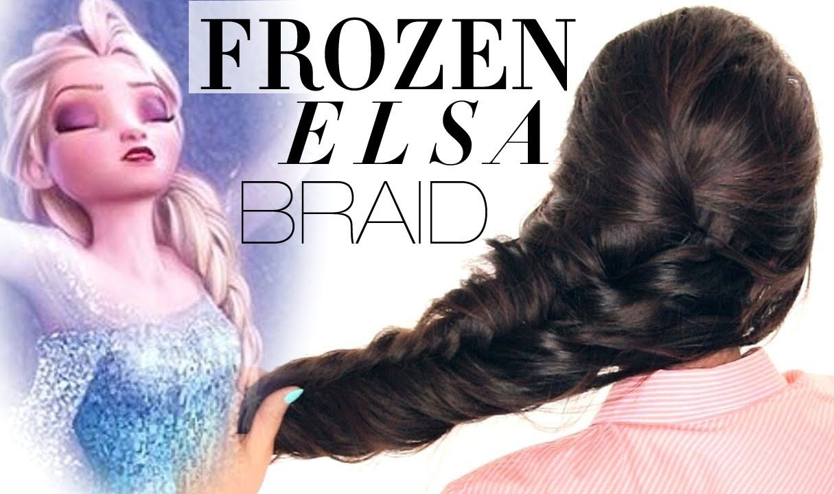 Disney Hairstyles ☆Frozen Reinvented Elsa Braid Hair Tutorial  Disney Hairstyles