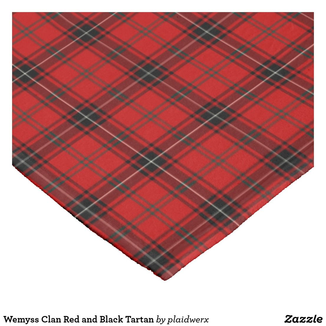 Wemyss Clan Red and Black Tartan Fleece Blanket | Scottish plaid
