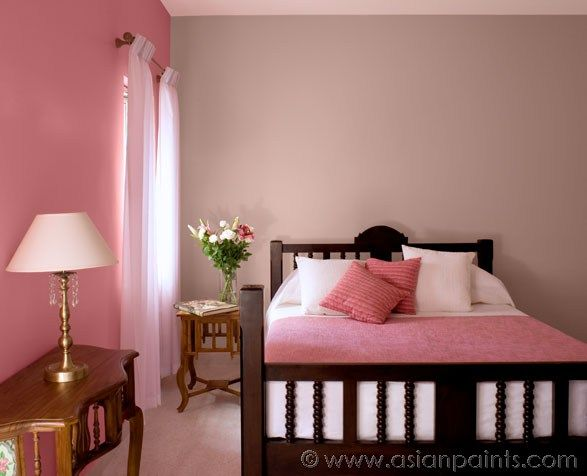 Royale Luxury Emulsion Paints For Bedroom Pink Carnation 8080, Palm Peach  8675