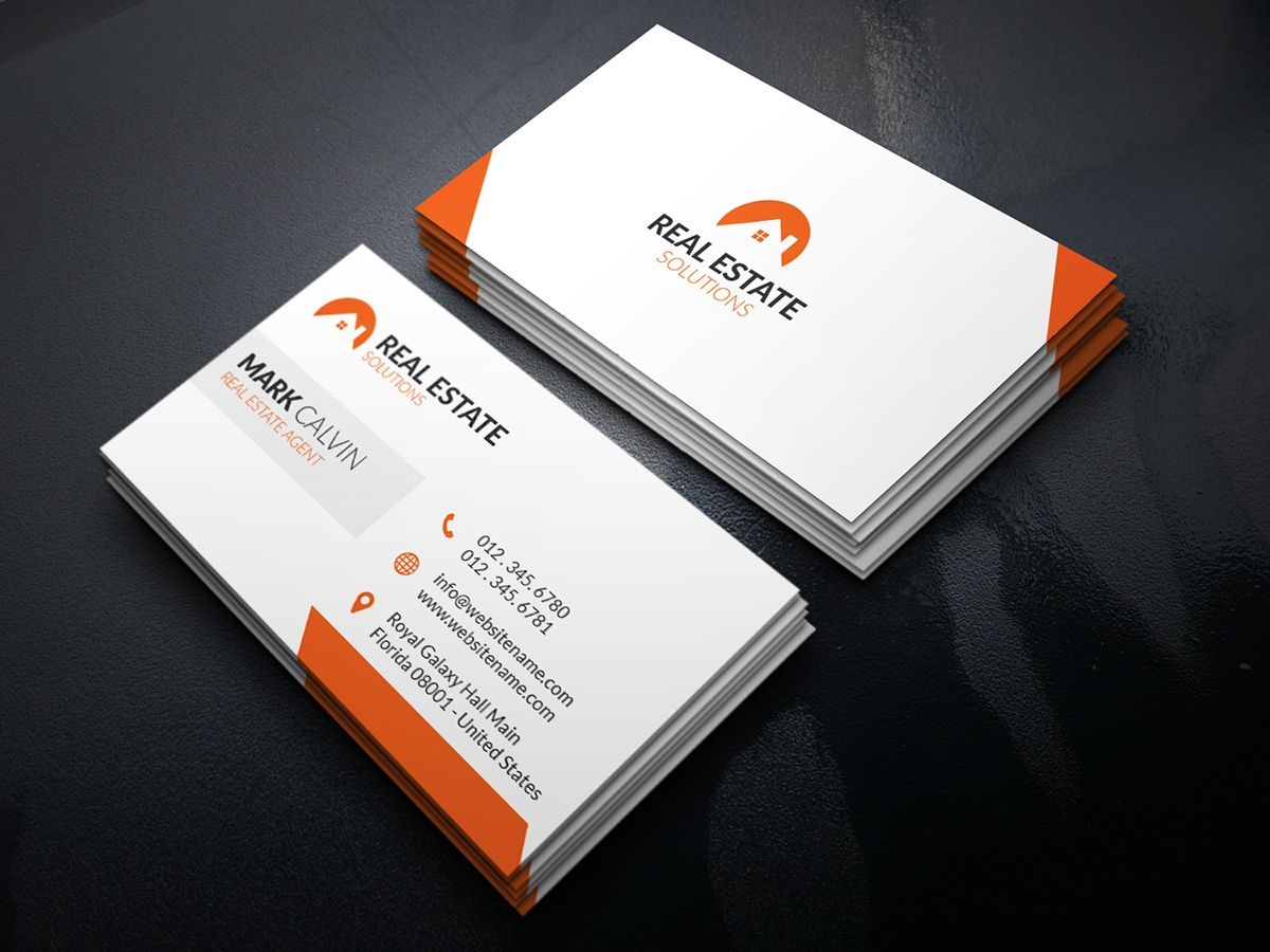 real estate business card 29  http:graphicpickdownloads