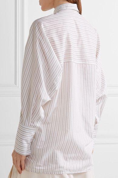 1b5ecad54eb Acne Studios - Bai Oversized Striped Cotton Shirt - White - FR42