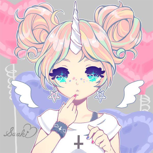 Unicorn Girl By Saaki Pyrop Kawaii Art Anime Art Girl Cute Kawaii Drawings