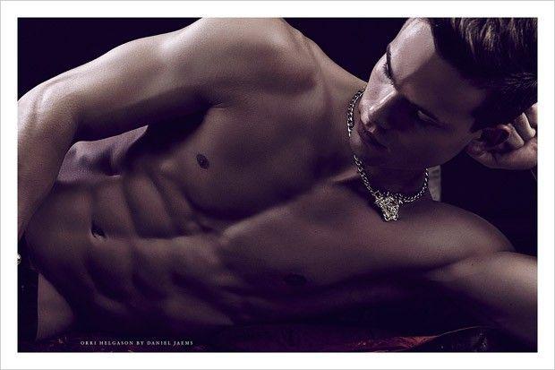 Orri Helgason in Versace by Daniel Jaems for Obsession No