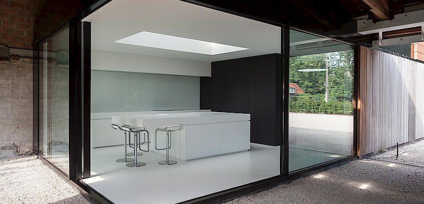 Maison moderne en Belgique rurale - KELLER SA | cuisine ...