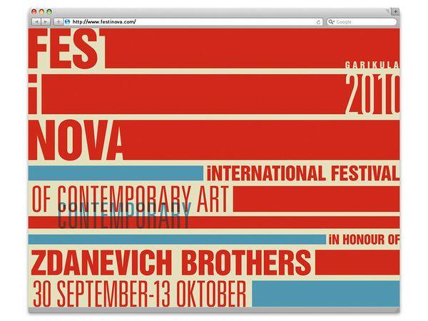Nana Totibadze – FEST I NOVA identity, via Behance