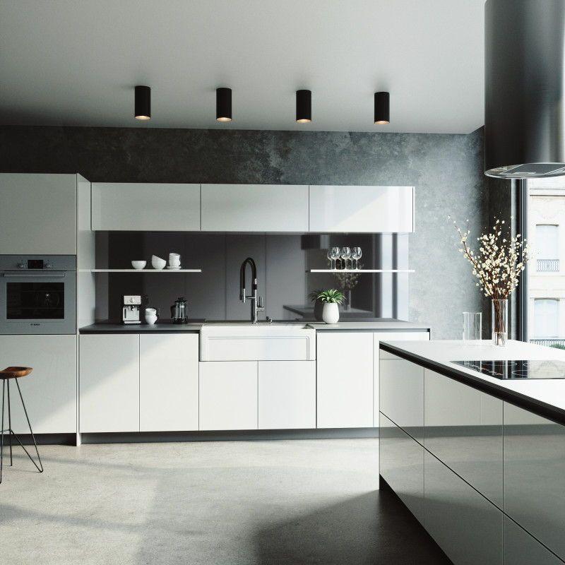 Minimalist Black And White Kitchen Design Everything You Need To Complete Your Contemporary This Vigo Kit Sovremennyj Dizajn Kuhni Kuhnya